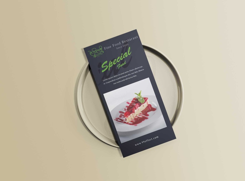 Special Food Menu Tri Fold Design psd illustration