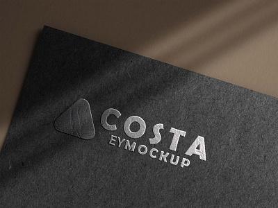 Free Black Paper 3D Logo Mockup logo download mock-ups download mockup psd