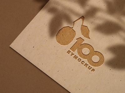 Free Brown 3D Logo Mockup mockup psd logo download mockup psd