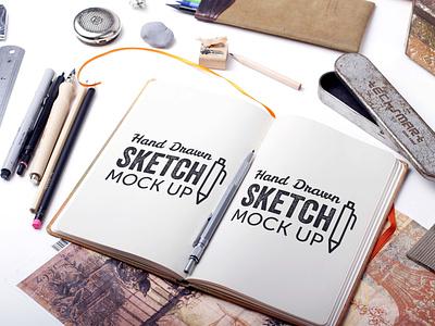 Free Drawing Sketchbook Mockup mockup psd mockups mockup download mockup psd