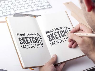 Free Hand Drawing Sketch Mockup mockup psd mockups mockup download mockup psd