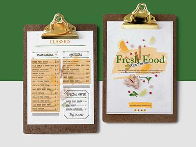Daily Fresh Food Restaurant Menu Design design illustration premium download psd