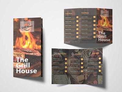 Food Menu Brochure Design Template menu illustration premium download psd
