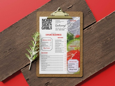Grill Side Poster Tabloid Menu Design menu design premium download psd