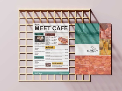 Meet Cafe Menu Design design art menu premium psd design premium download psd
