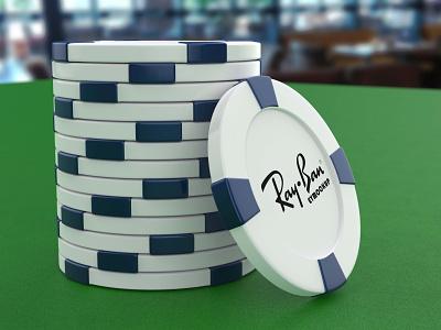 Free Gambling Chip Logo Mockup logo mockup psd mockup mockups download mockup psd