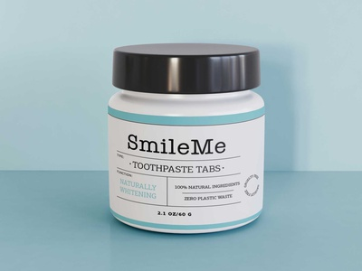 Free Toothpaste Tabs Bottle Mockup mockups download mockup psd