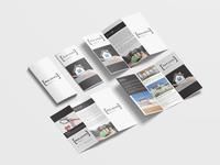 Real Estate Business Tri Fold Brochure Design Template
