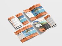 Beautiful Travel Vacation Tri Fold Brochure Design Templates