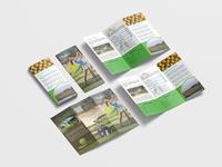 Charity Golf Tri Fold Brochure Design Template