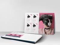 Headphone Postcard Design Template