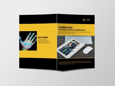 Premium Corporate Bi Fold Brochure Design Template