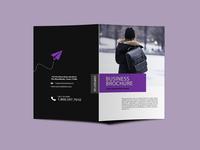 Tourist Agency Bi Fold Brochure Design Template