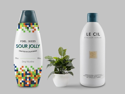 Modern Shampoo Bottle Mockup 2019