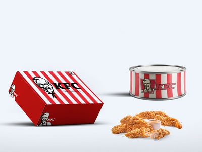 Kfc Food Packaging Tin Can Mockup