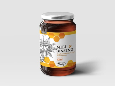 Free Premium Honey Jar Glass Bottle Mockup