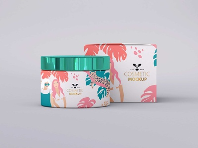 Awesome Cosmetic Packaging Mockup 2019