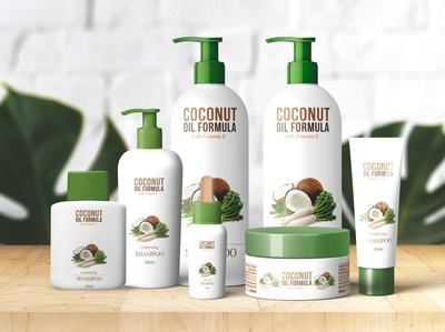 Coconut Spa Product Bottle Mockup