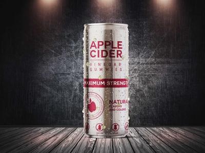 Free Apple Cider Can Mockup