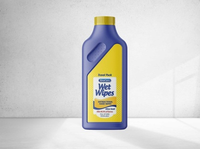 Free Laundry Detergent Bottle Mockup
