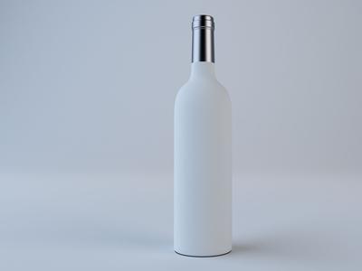 Red Wine Bottle Model