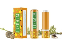 Premium Lemon Glossy Lip Balm Mockup