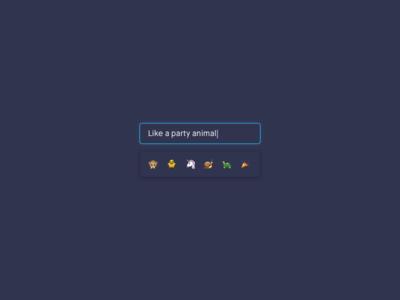 Emoji suggestions ui component input form search emoji