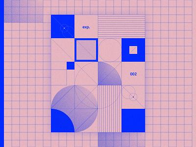 Graphic design - experiment 002 blueprint geometry graphicdesign poster vector illustration web design