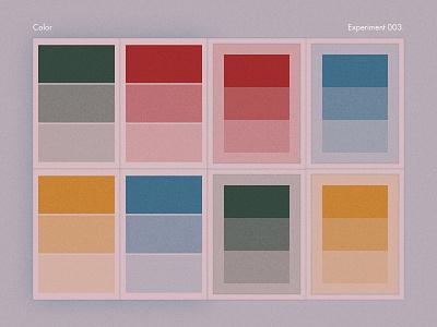 Graphic Design - Experiment 003 flat concept posters color vector design illustration