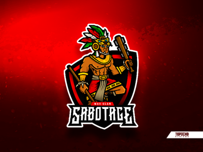 SABOTAGE logo new logo esport warrior vector sports sport logo sport mascot logo mascot design logo insporation logo gaming logo game logo mexico illustration esports esport design brand artwork