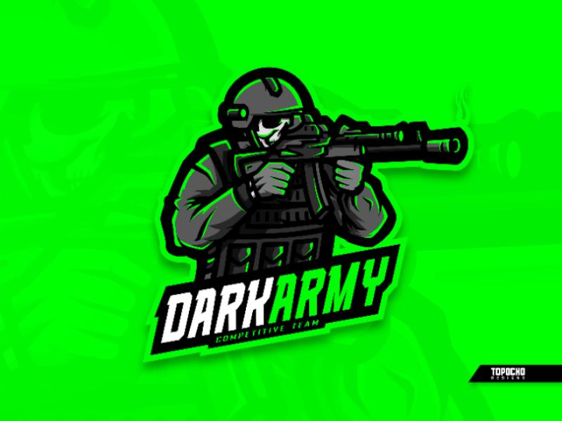 DARK ARMY skull soldier vector sports sport logo sport mascot logo mascot design logo insporation logo gaming logo game logo mascot illustration icon esports esport design brand artwork