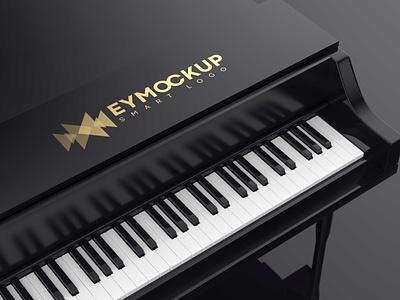 Free Black Piano Logo Mockup psd mockups mockup psd download mock-up mockup mock-ups download download mockup