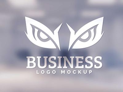Free Blur Glass Wall Logo Mockup psd mockups mockup psd download mock-up mockup mock-ups download download mockup