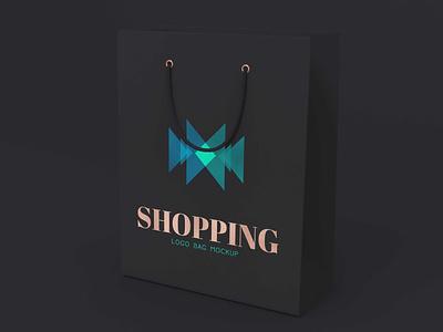 Free Dark Shopping Bag Logo Mockup mockups psd download mock-up mockup mock-ups download download mockup