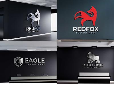 Dark Background 3D Logo Mockup Design (2020) logo design mockup psd logo mockup