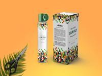 Salon Hair Spray Packaging Mockup