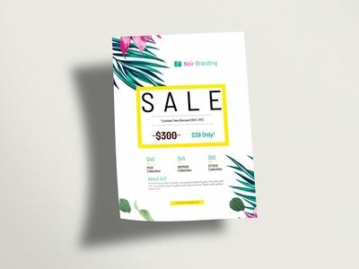 Beautiful Sale Flyer Mockup 2019