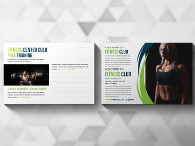 Health Club Postcard Design Template