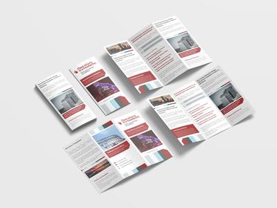 Formal Corporate Tri Fold Brochure Design Template