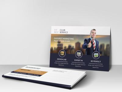 Marketing Consultant Postcard Design Template
