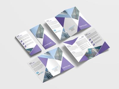 Marketing Consultants Business Tri Fold Brochure Design Template