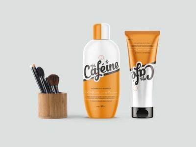 Modern Cosmetic Shampoo Bottle Label Mockup