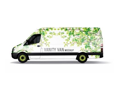 Premium Fast Food Vanity Van Wrap Mockup
