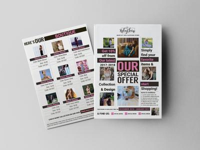 Captivating Clothes Sales Flyer Design Template