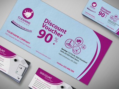Cleaning Service Gift Voucher Design Template