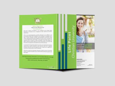 Event University Bi Fold Brochure Design Template