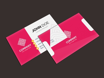 Premium Business Card Presentation Mockup