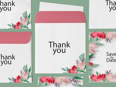 Free Thank You Card Envelope Mockup