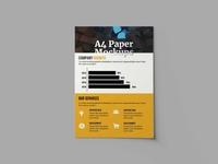 Free Booklet Flyer PSD Mockup