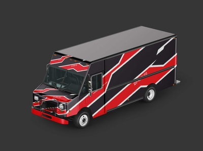 Free Burger Food Truck Mockup